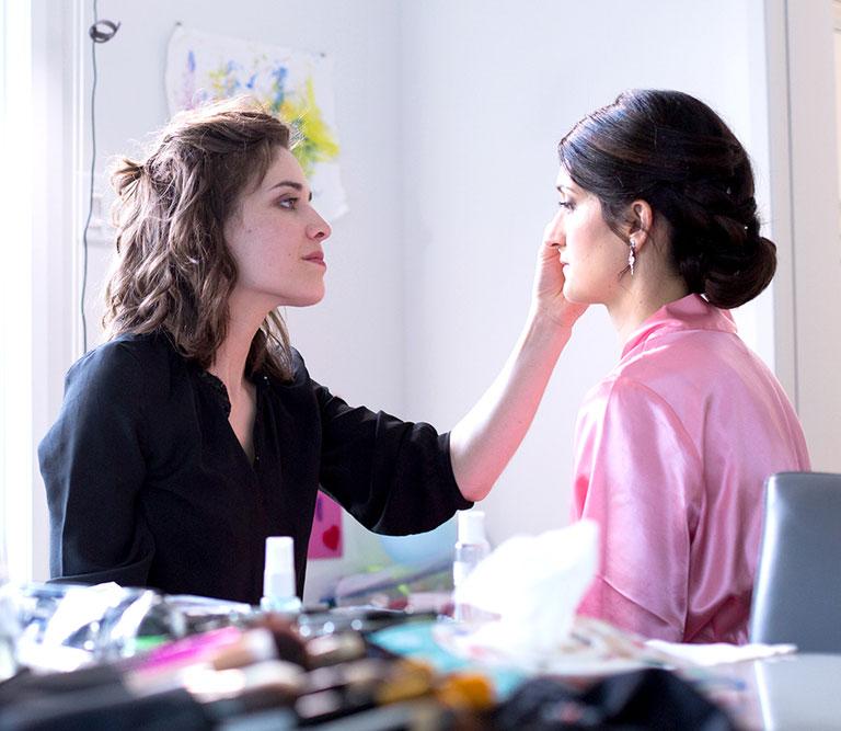Marjorie de Laurel maquillage maquille une mariée